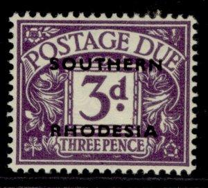 SOUTHERN RHODESIA GVI SG D4, 3d violet, LH MINT.