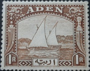Aden 1937 One Rupee (Dhow) SG 9 mint
