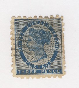 Prince Edward Island Stamp; #2-3c Perf 9 Used F/VF. Guide Value = $750.00