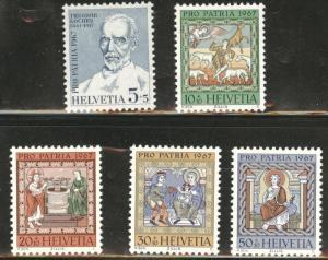 Switzerland Scott B365-369 MH* 1966 semipostal set