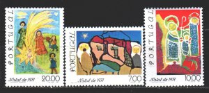 Portugal. 1977. 1385-87 from the series. Children's drawings, christmas. MNH.