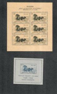 Poland Sc#829a-830 M/NH/VF, S/S, Cv. $146