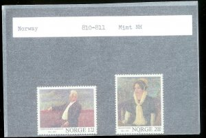 NORWAY Sc#810-811 MINT NEVER HINGED Complete Set