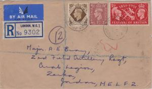 Great Britain 1/- and 1 1/2d KGVI and 2 1/2d Festival of Britain, 1951 c1952 ...