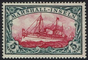 GERMAN MARSHALL ISLANDS 1901 YACHT 5MK NO WMK