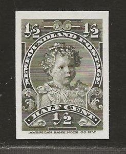 NEWFOUNDLAND  SC# 78P  CARD PROOF VF