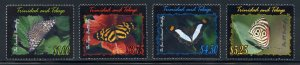 Trinadad and Tobago 642-45 MNH Butterfly Set from 2002