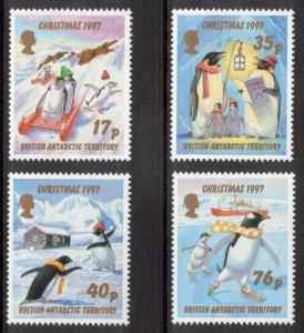 BRITISH ANTARCTIC 1997 Christmas; Scott 249-52, SG 276-79; MNH