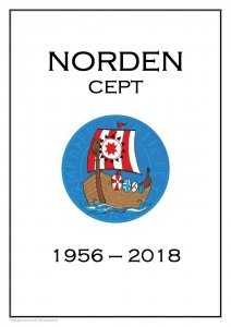 EUROPA CEPT NORDEN  PDF (DIGITAL) STAMP  ALBUM PAGES 1956-2018 (42 pages)