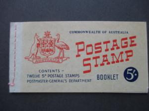 1960 SG SB35 5/- BOOKLET WITH 2 PANES OF SG314d ED 1/1960, FREE STD SHIP W/W