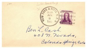 1933 New York & Pitts. R.P.O.Railroad  #135