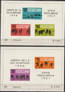 Mexico #983a, 985a  MNH CV $12.00  (A17404L)