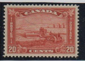 Canada Sc 175 1930 20c brown red Harvesting Grain stamp mint LH