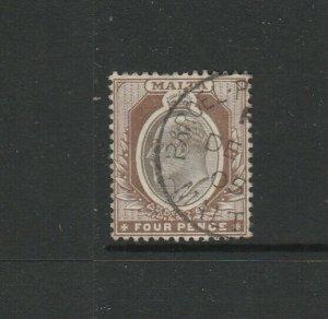 Malta 1903/4 Crown CA 4d FU SG 43
