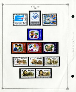 Poland Loaded & Complete Mint NH 1975 to 1997 Stamp Collection