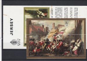 Battle of Jersey Mint Never Hinged Stamps Sheet Ref 33218