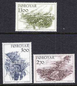 Faroe Islands 149-151 MNH VF