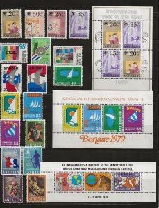Nether. Antilles 1979 issues  MNH-MH