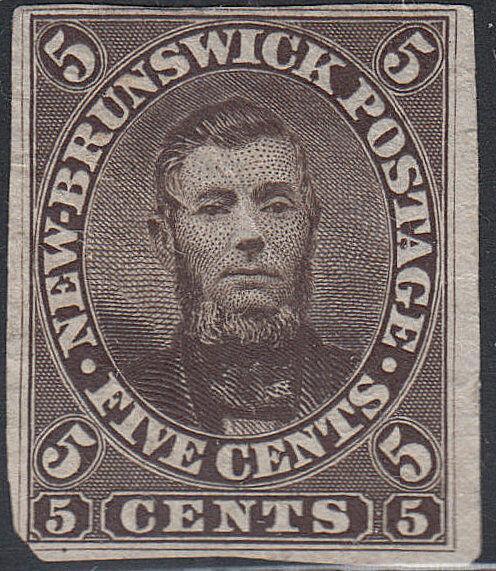 NEW BRUNSWICK 5P on INDIA PAPER. (122018)