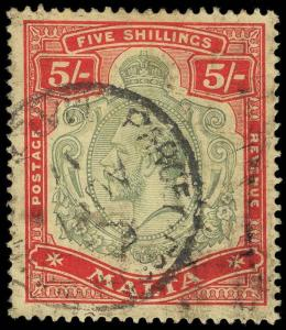Malta Scott 49-63 Gibbons 69-88 Used Set of Stamps