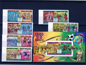 Comoro Islands 1978 World Cup Argentina Winners Set (6)+1SS Imperf.Mi.#478/83BA