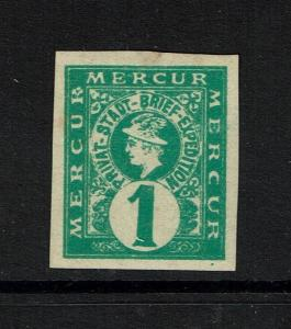 Hanover 1pf, imperf, Mercur local, Mint Hinged, Hinge Remnant - Lot 073117