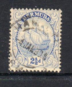 BERMUDA #87  1932  2 1/2p CARAVEL    F-VF USED  e