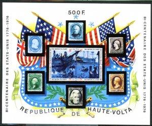 Upper Volta 358 USA Bicentennial Souvenir sheet MNH mint      (Inv 001284.)