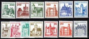 Germany  #1231-42 F-VF Unused  CV $13.15 (X287)