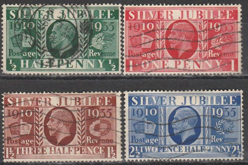 Great Britain #226-9  F-VF Used CV $7.45  (S1820)