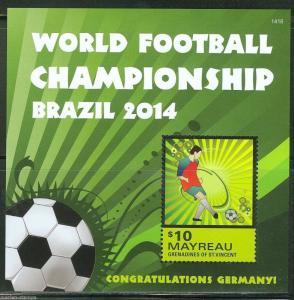 MAYREAU 2014 WORLD CUP BRAZIL GERMAN WINNERS  S/S  MINT NH