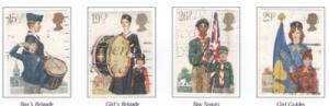 Great Britain Sc 983-6 1982 Youth Organizations stamps used