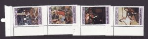 Grenada Grenadines-Sc#611-14-unused NH set-Paintings-Edgar Degas-1984-