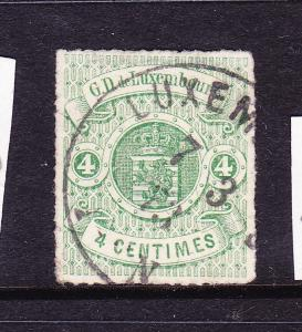 LUXEMBOURG  1865-71  4c  ARMS  ROULETTE  FU  Sc 16