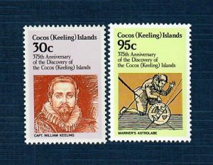 Cocos Islands 115,117 MNH Discovery (SCV $2.10)
