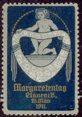 Germany 1911 Plauen Margaretentag Poster Stamp