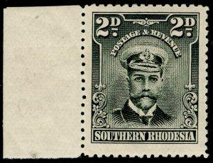 SOUTHERN RHODESIA SG4, 2d black & purple-grey, VLH MINT.