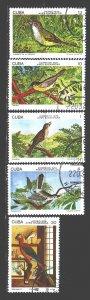 Cuba. 1978. 2280-84. Birds, fauna. USED.