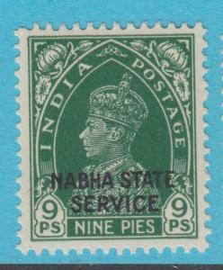 INDIA NABHA O38 MINT  HINGED OG * NO FAULTS EXTRA FINE !