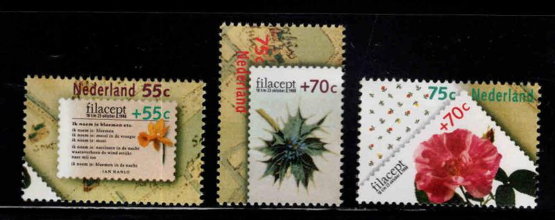 Netherlands Scott B635-B637  MNH** 1988 Flower set