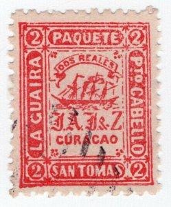 (I.B) San Tomas : La Guaira Paquete Mail (Dos Reales)