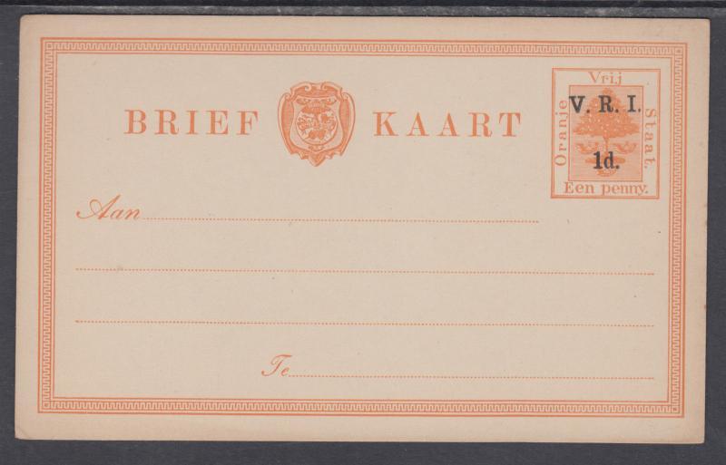 Orange Free State H&G 22 mint 1898 1p on 1p Orange Tree Postal Card