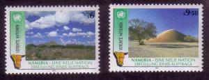 UN Vienna Sc# 114 / 115 Namibian Independence MNH