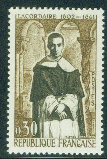 France Scott 988 MNH** 1961 Dominican monk stamp