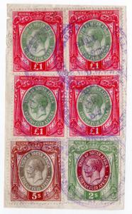 (I.B) South Africa Revenue : Duty Stamp £4 7/-