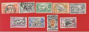 Nigeria #80-87  VF used  Various Scenes   Free S/H