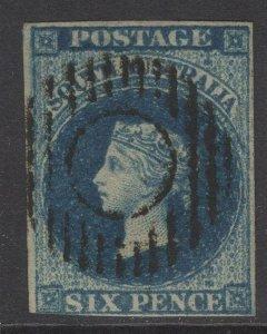 SOUTH AUSTRALIA SG3 1855 6d DEEP BLUE USED