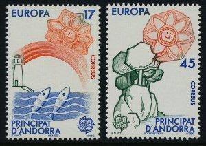 Andorra Sp 173-4 MNH EUROPA, Fish, Lighthouse, Soil & Air