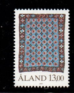 Aland Finland Sc 53 1990 13 m Handicrafts stamp mint NH