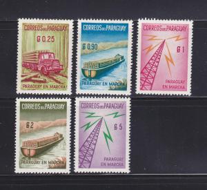 Paraguay 577-581 Set MH Various